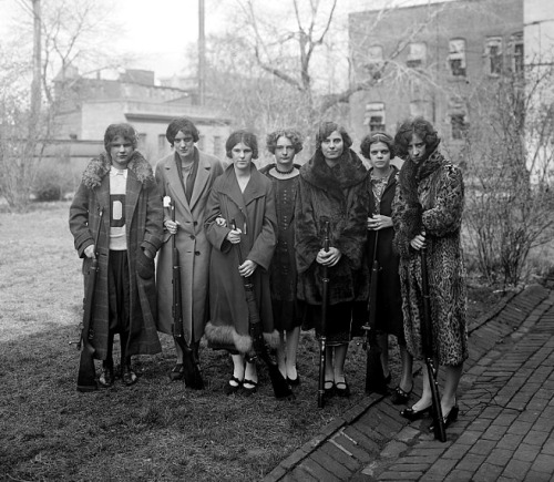 denisebefore:  Girls Rifle Team, Drexel Univ. nat.photo co. c.1925