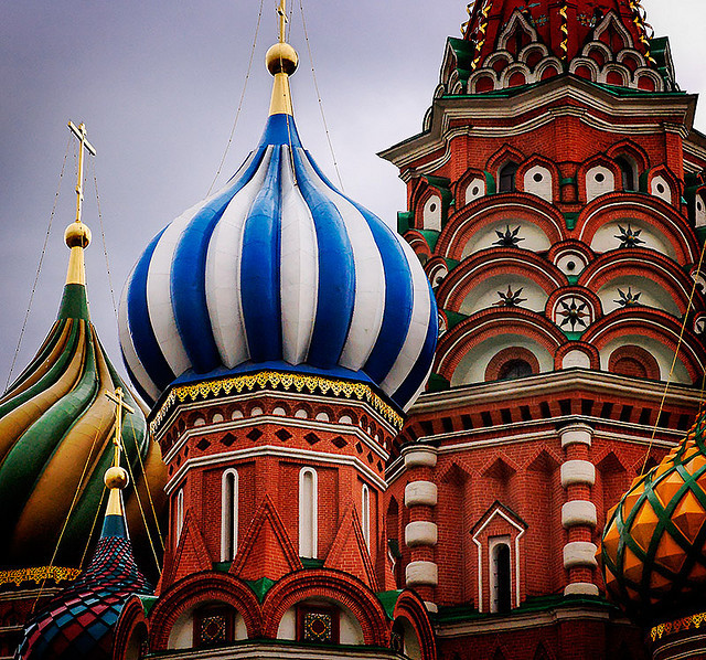 St. Basil's stripes by Andrei Z on Flickr.Moscow, Moskva, RU