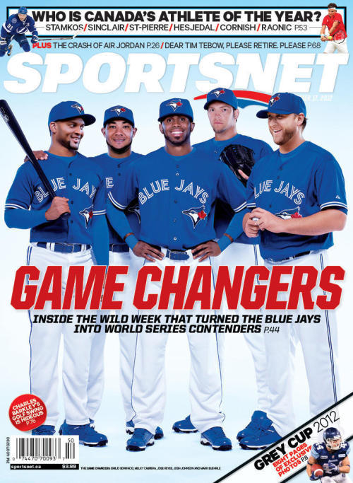 thescore:  Photo: It's the New Blue Jays, in Uniforms!