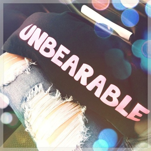 got him this shirt long ago #unbearable#shirt#blackbook#skinnyjeans#igers#igdaily#instadaily#instagood#love#bear#cute#iphonesia