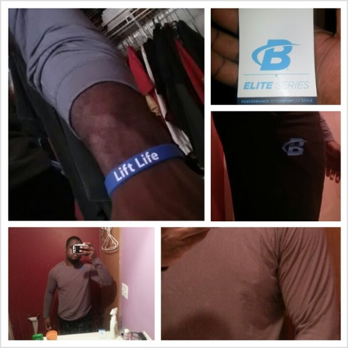 @Chris  I got some of the b elite series work out gear they got, shirt (one black one grey) and pants.  Plus, free wrist band :-P
