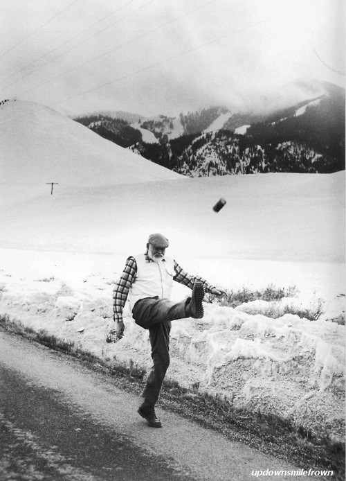updownsmilefrown:  Ernest Hemingway, Winter of 58-59, Ketchum, Idaho. by John Bryson