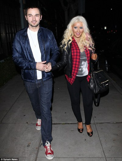 #datenightChristina Aguilera out in Hollywoodlast night with boyfriend Matthew Rutler