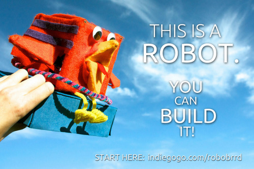 This is a robot. You can build it! And it may or may not rise up against us all.  (via RoboBrrd | Indiegogo)