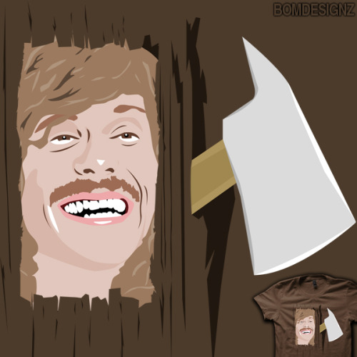 WORKAHOLICS + THE SHINING + BLAKE HENDERSON = ?Buy this crazy t-shirt/iphone ipad case at: http://www.redbubble.com/people/bomdesignz/works/9657639-crazy-blake
