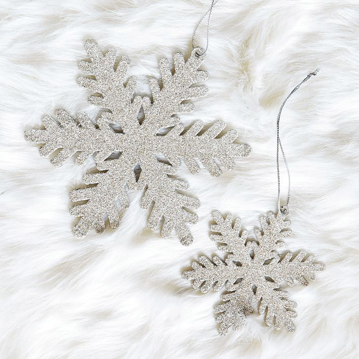 [Glitter Snowflake Ornament by West Elm]