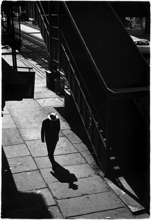 William Gedney Man on sidewalk with shadow, 1960 From Brooklyn Series