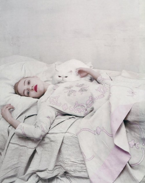 tolleyalways:  inlovewithberni:  Sasha Pivovarova  Forever that cat.