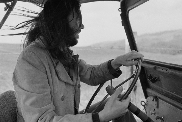 neil young by henry diltz broken arrow ranch, 1973 (theselvedgeyard)