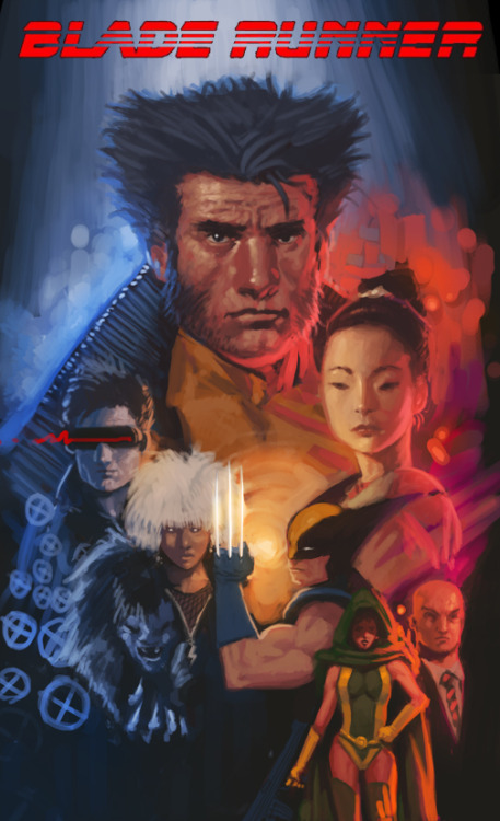Il mashup del giorno: X-Men e Blade Runner, di Jarreau Wimberly. lacarpa:  X-Men Meets Blade Runner by Jarreau Wimberly