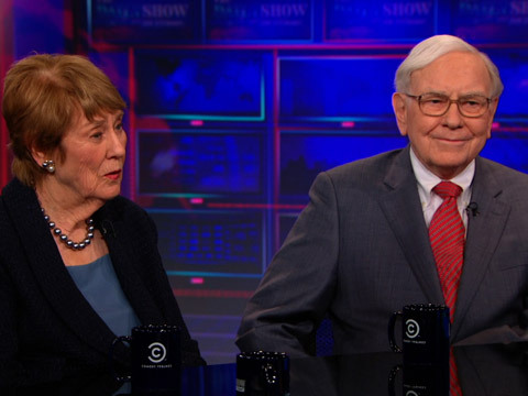 Jon asks Warren Buffett and journalist Carol Loomis about the Buffett Rule. http://on.cc.com/U3bADI