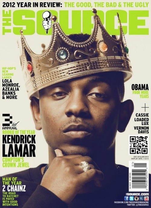 Kendrick Lamar Covers The Source for Rookie of the Year title   Kendrick Lamar earns the 3rd annual and well deserved title of Rookie of the Year for The Source Magazine issue which hits stands December 4. 2 Chainz earned Man of the Year title. Check out a behind the scenes interview with Kdot here.