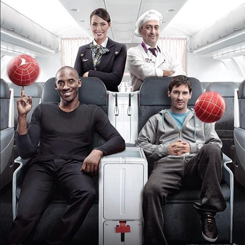 Photo: Kobe & Messi in Turkish Airlines Ad.