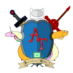 Adventure Time heraldic shield