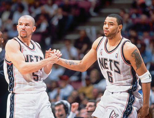 bklyn-nets:  Throwback. Jason Kidd and Kenyon Martin.