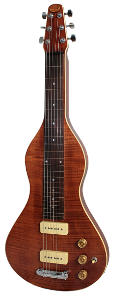 Anderwood guitars have recently released their first Electric Lap Slide guitar - The ELS has 2 x P90 pickups and a great looking solid flame maple top.