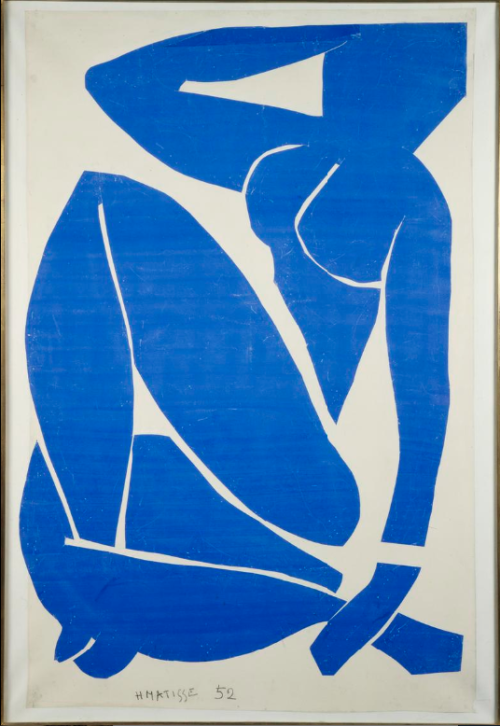 arthistoryeveryday:  Blue Nude III by Henri Matisse (1952)