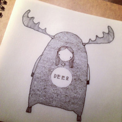 Limited Edition Xmas Card ; Deer/Dear