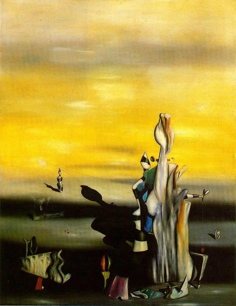 The Absent Lady by Yves Tanguy, 1942. Oil on canvas, 115 x 89.5 cm. Kunstsammlung Nordrhein-Westfalen, Dusseldorf.
