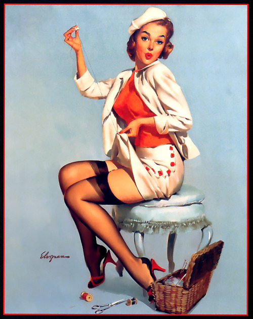 Gil Elvgren - A Stitch Time (1957)
