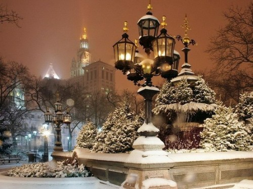 Snowy Night, New York City photo via karyn