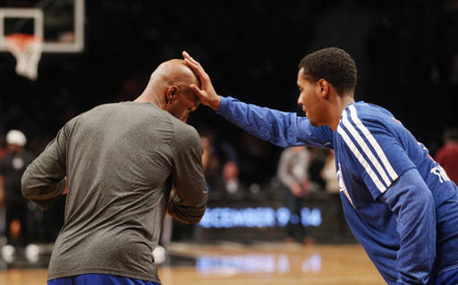 Rub Chauncey Billups' head and he gets 1 wish: to start at shooting guard tonight in Los Angeles. Photo by Bruce Bennett/Getty Images