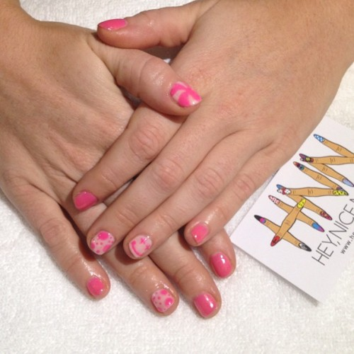 heynicenails:  #gel manicure with accent #nailart (at Hey, Nice Nails!)