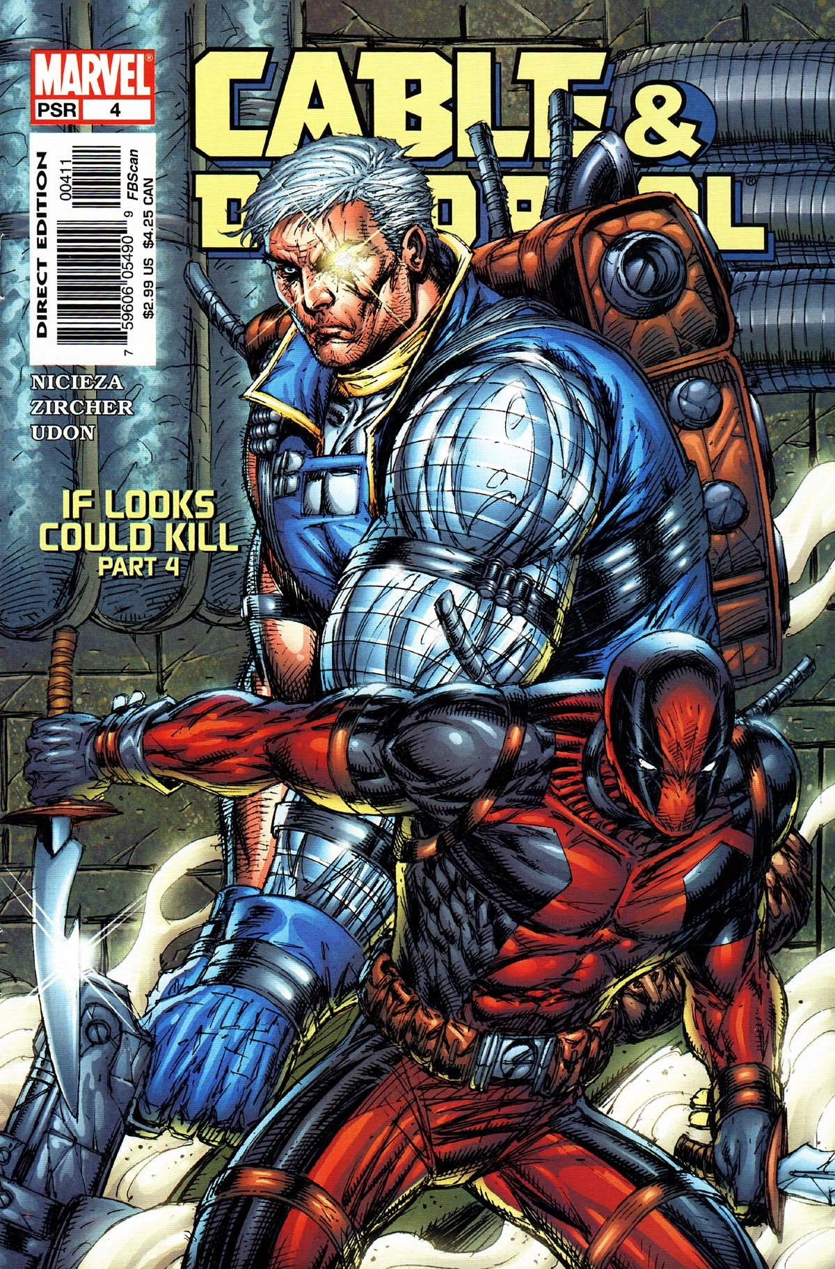 comicbookcovers:  Cable And Deadpool #4, August 2004, cover by Rob Liefeld