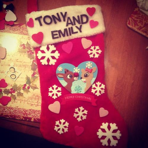 Stocking I made for my soldier <3 23 days!