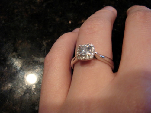 the infamous engagement ring!