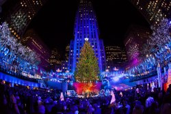 nbcnews:  Kicking off the 2012 holiday season with the lighting of the Rockefeller Center Christmas Tree. (Photo: Anthony Quintano / NBC News)