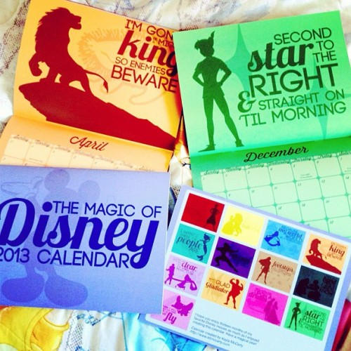 If you'd like to buy a copy of my Magic of Disney 2013 calendar, hit me up! (There may or may not also be a give away in early December… Keep an eye out!)