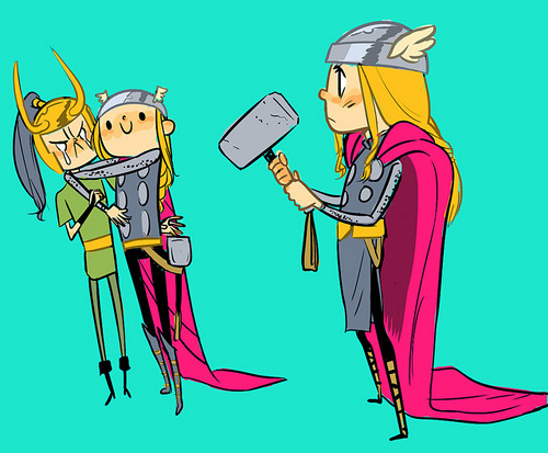 Thor chibis, by Polly Guo
