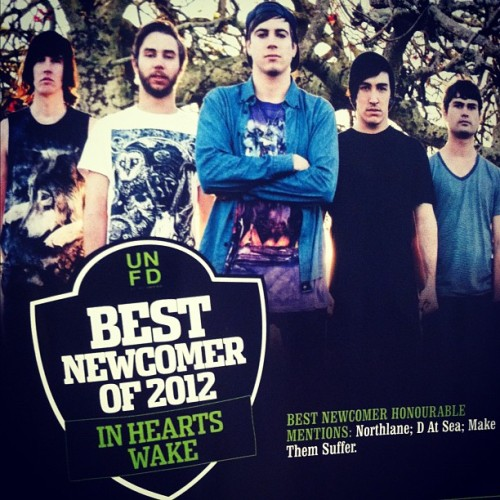 We won BEST NEWCOMER OF 2012 in the Blunt Awards! We also received honorable mentions for 'Best Aussie Band', 'Best Album', 'Best Aussie Album', & 'Best Music Video'! A huge Thankyou to all our fans who voted for us <3
