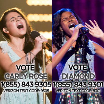 britneyspears:  Let's do some voting for my two favorite girls Carly Rose Sonenclar & Diamond White - http://www.thexfactorusa.com/vote