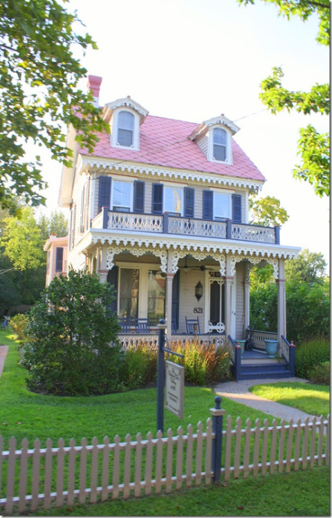 Victorian House in Cape May, New Jersey by The Pink Peony of Le Jardin (Robyn).