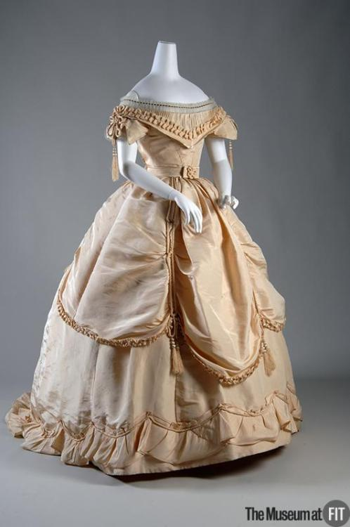 Evening dress ca. 1865 From the Museum at FIT