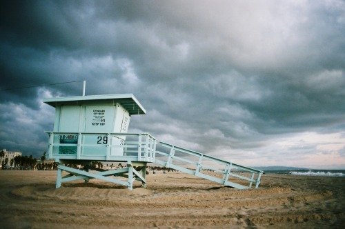 istillshootfilm:  Film Photography Submission By: smbiker  Stormy evening in Santa Monica Camera: Canon A-1 28mm 2.0, Film: Kodak Portra 400