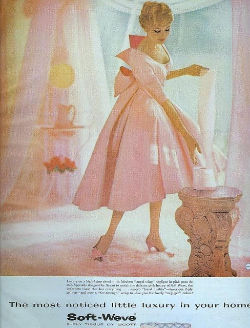 theniftyfifties:  Soft-Weve advertisement, Better Homes & Gardens, April 1959.