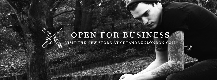We're very pleased to say that our new online store has just opened for business!Click the image above or visit http://store.cutandrunlondon.comWe hope that you all like the new collection and everything we have been working on, please spread the word by sharing/reposting the link to your friends. We're excited to be officially open and running and have so much planned in the coming weeks and months, pick something up today and get involved with Cut & Run London.Thanks,Josh and Dean