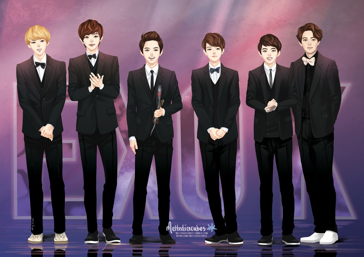 EXO-K babies, congrats on receiving your first Rookie award! <3 (Best view in full size!)