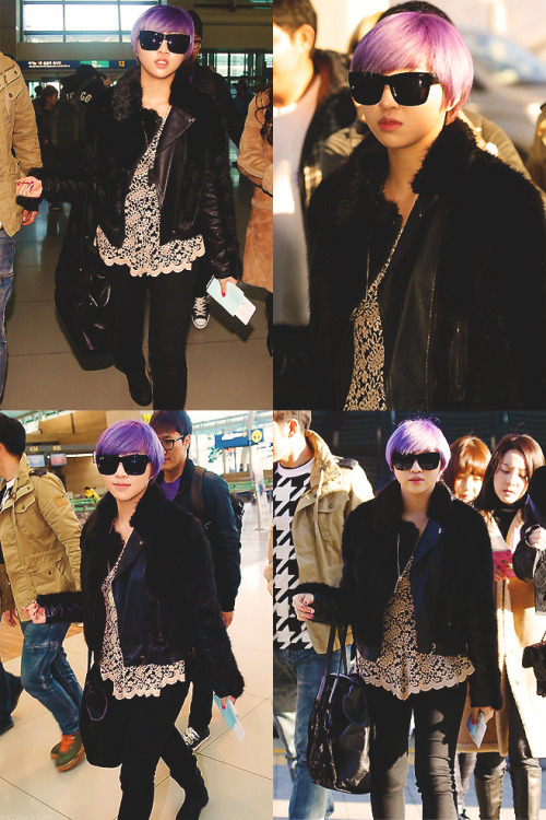 Minzy's airport photos heading to Singapore