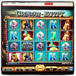 Play Crown of Egypt online slot game at http://www.virgingames.com/casino