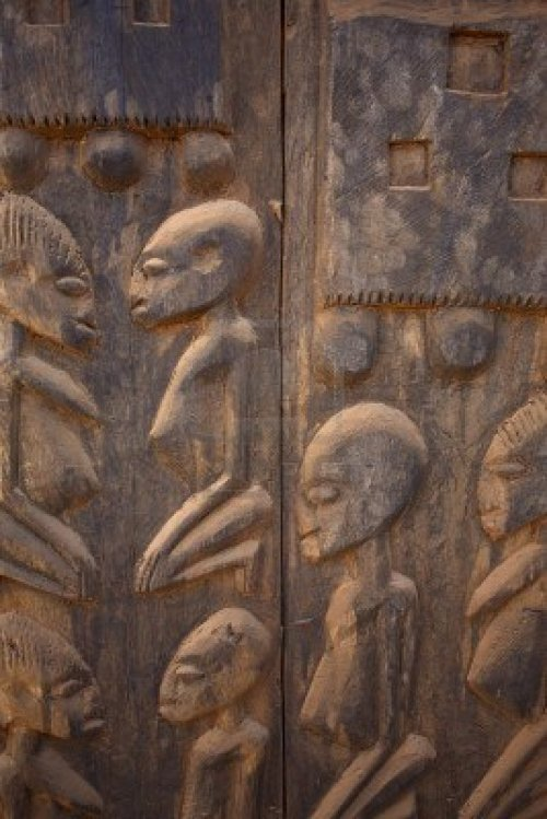 "African Dogons sculpture in Mali made in wood. If you have had read something about their ""cosmology"", then you know what this means."