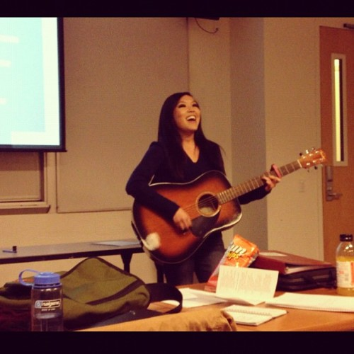 turns out grad school presentations aren't all that bad… :)i wrote a song for our project on cognitive behavioral therapy, and it turned out to be a success! i'm proud of myself!