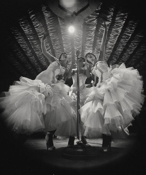 Performers at the Latin Quarter nightclub, New York City, 1953.