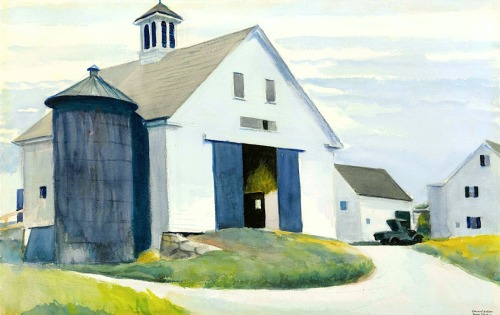 bofransson:  Edward Hopper (1882-1967) Barn at Essex