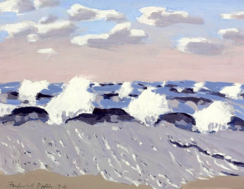 bofransson:  Fairfield Porter (1907-1975) Surf on Windy Day