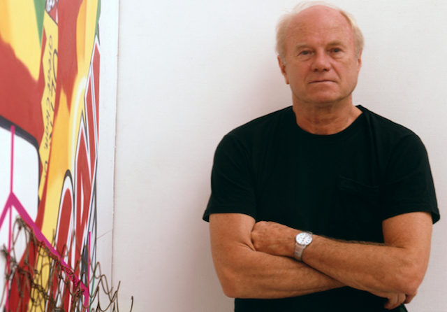 "Celebrating Rosenquist Happy birthday James Rosenquist! The famed artist was born on this day in 1933, in North Dakota.  Rosenquist is notorious for being the most openly political artist associated with the Pop Art movement. His fragmented imagery drew from many commercial, social, and political sources, often with sharply political implications.  During the Vietnam War, Rosenquist continued to paint on a large scale but became more openly critical of the American military-industrial complex. This resulted in such controversial works as F-111 Bomber, which fuses images of the ""American Dream"" with darker suggestions of nuclear war, missiles, and the emblematic US fighter-bomber."