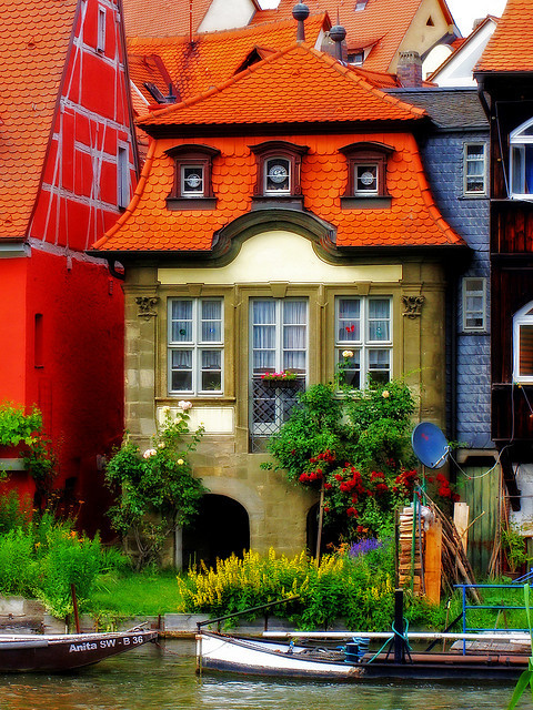 visitheworld:  Colorful buildings in Bamberg, Bavaria, Germany (by the-father).